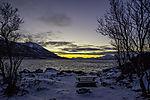 Südspitze in Tromsö in Polarnacht