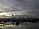 Polarnacht Spiegelung im Meer