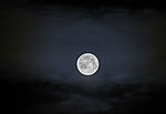 Full Moon and cloud