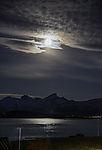 Full Moon over island Kvalöya