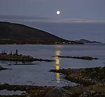 Mond über Grötfjorden