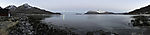 schneearmer Winter am Vengsöyfjorden Panorama