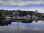 summer reflection in Tromso harbour