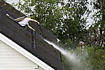 roof cleaning with hight pressure