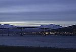 bridge over Sandnessund in polar night
