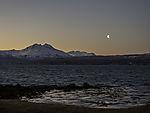 Mond über Bergen von Malangen