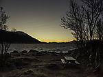 Polarmorgen an Südspitze von Tromsö