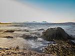 bewegtes Wasser an Küste von Tromsö