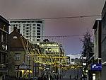 Gürtel der Venus und Weihnachtsbeleuchtung über Tromsö