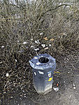 waste at trail at lake Alster