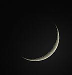 Mondsichel drei Tage nach Neumond