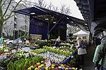 Blumenstand auf dem Isemarkt in Hamburg