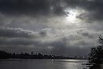 Wolken über der Alster