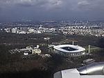 football stadium Waldstadion in Frankfurt from the air