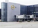 empty gate on Frankfurt airport