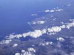 Kiel Förde and Baltic Sea from the air