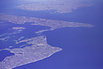 islands in southern Denmark from the air