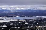 ice on lake Öyeren in southern Norway