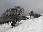 Schnee am Sandnessund