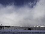 Schneewolken über Kvalöya