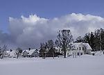 Schneewolken über Tromsö
