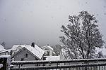Schneefall in Tromsö