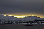 trawler Karelia in dusk
