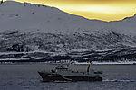 Trawler Karelia in Abenddämmerung