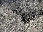 ice crystals on beach