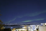Nordlichtbögen über Kvalöya