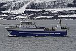 russischer Trawler Kholmogory nahe Tromsö