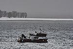 Serviceboot Gorm im Schneefall