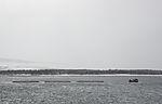 Schleppverband im Schneefall