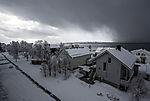 Schneesturm über Tromsö