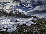 Schneestrand in Tromsö