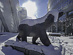 Eisbärenskulptur in Tromsö