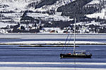 Segelboot Valiente vor Schären von Insel Grindöya