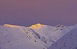 letztes Abendlicht auf Bergen von Malangen