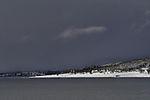 southern tip of island Haaköya in snow