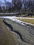 erosion after snow melting