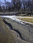 Erosion nach Schneeschmelze