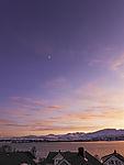 Mondsichel am Abendhimmel