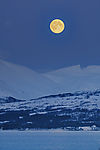 Full Moon over mountains of Malangen