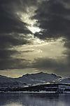 Sonne und Wolken über Skittentinden