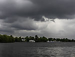 dark clouds over lake Alster