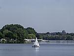 sailing boat on lake Alster