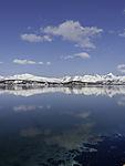 mountain reflection near Tromso