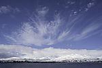 feather clouds over island Kvalöya