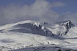 snow on mount Lille Blaamannen