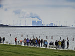 tourists and coal power plant